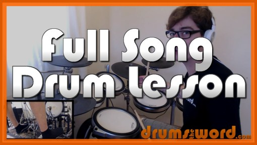 """More Than A Feeling"" - (Boston) Full-Song Video Drum Lesson Notation Chart Transcription Sheet Music Drum Lesson"