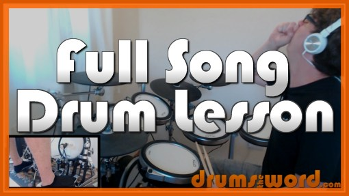 """Numb"" - (Linkin Park) Full-Song Video Drum Lesson Notation Chart Transcription Sheet Music Drum Lesson"
