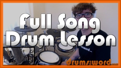 """""""Say It Ain't So"""" - (Weezer) Full-Song Video Drum Lesson Notation Chart Transcription Sheet Music Drum Lesson"""