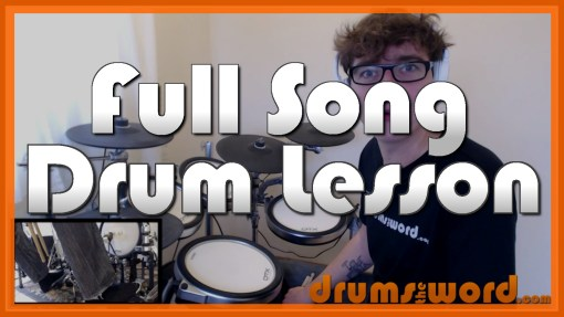 """Say It Ain't So"" - (Weezer) Full-Song Video Drum Lesson Notation Chart Transcription Sheet Music Drum Lesson"