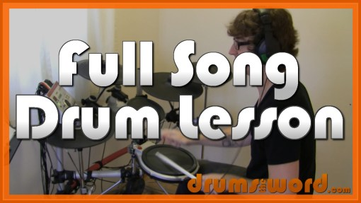 """Song 2"" - (Blur) Full-Song Video Drum Lesson Notation Chart Transcription Sheet Music Drum Lesson"