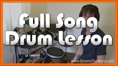 """Times Like These"" - (Foo Fighters) Full-Song Video Drum Lesson Notation Chart Transcription Sheet Music Drum Lesson"