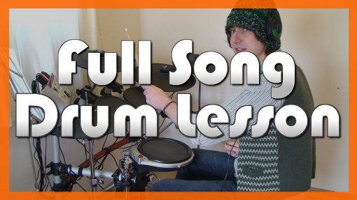 """""""Uprising"""" - (Muse) Full-Song Video Drum Lesson Notation Chart Transcription Sheet Music Drum Lesson"""
