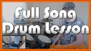 """""""I Love Rock N' Roll"""" - (Joan Jett) Full-Song Video Drum Lesson Notation Chart Transcription Sheet Music Drum Lesson"""