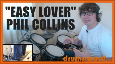 """Easy Lover"" - (Phil Collins) Full-Song Video Drum Lesson Notation Chart Transcription Sheet Music Drum Lesson"