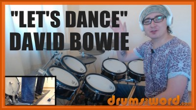 """Lets Dance"" - (David Bowie) Full-Song Video Drum Lesson Notation Chart Transcription Sheet Music Drum Lesson"