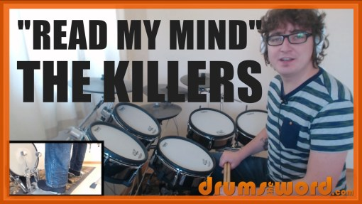 """""""Read My Mind"""" - (The Killers) Full-Song Video Drum Lesson Notation Chart Transcription Sheet Music Drum Lesson"""