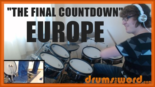 """The Final Countdown"" - (Europe) Full-Song Video Drum Lesson Notation Chart Transcription Sheet Music Drum Lesson"
