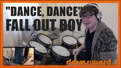 """Dance, Dance"" - (Fall Out Boy) Full-Song Video Drum Lesson Notation Chart Transcription Sheet Music Drum Lesson"