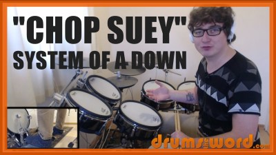 """Chop Suey"" - (System Of A Down) Full-Song Video Drum Lesson Notation Chart Transcription Sheet Music Drum Lesson"