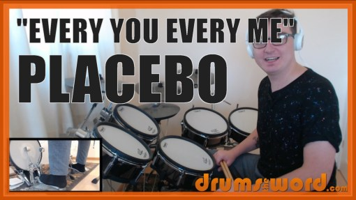 """Every You And Every Me"" - (Placebo) Full-Song Video Drum Lesson Notation Chart Transcription Sheet Music Drum Lesson"