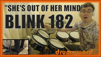 """She's Out Of Her Mind"" - (Blink 182) Full-Song Video Drum Lesson Notation Chart Transcription Sheet Music Drum Lesson"