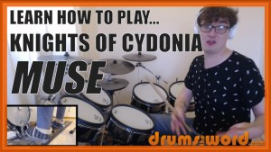 """Knights Of Cydonia"" - (Muse) Full-Song Video Drum Lesson Notation Chart Transcription Sheet Music Drum Lesson"