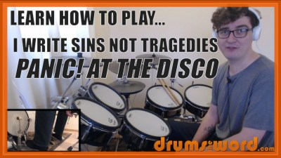 """I Write Sins Not Tragedies"" - (Panic! At The Disco) Full-Song Video Drum Lesson Notation Chart Transcription Sheet Music Drum Lesson"