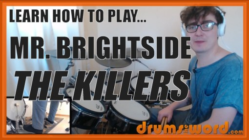 """Mr Brightside"" - (The Killers) Full-Song Video Drum Lesson Notation Chart Transcription Sheet Music Drum Lesson"