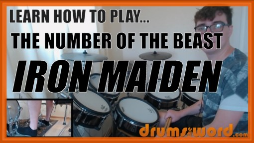 """""""The Number Of The Beast"""" - (Iron Maiden) Full-Song Video Drum Lesson Notation Chart Transcription Sheet Music Drum Lesson"""