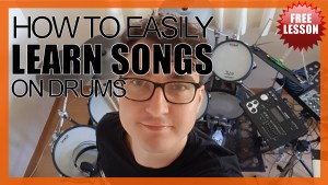 """How To Easily Learn Songs On Drums"" - (DrumsTheWord) Video Drum Lesson Notation Chart Transcription Sheet Music Drum Lesson"