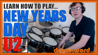"""New Years Day"" - (U2) Full-Song Video Drum Lesson Notation Chart Transcription Sheet Music Drum Lesson"