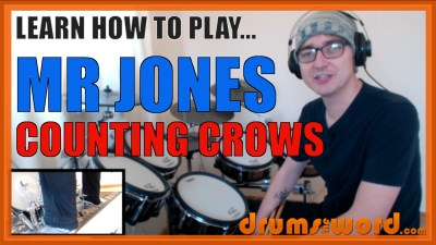 """Mr Jones"" - (Counting Crows) Full-Song Video Drum Lesson Notation Chart Transcription Sheet Music Drum Lesson"