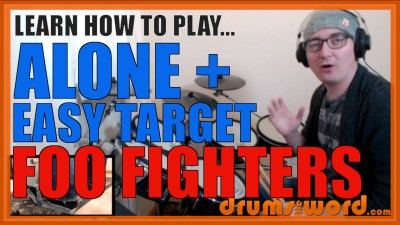 """Alone + Easy Target"" - (Foo Fighters) Full-Song Video Drum Lesson Notation Chart Transcription Sheet Music Drum Lesson"