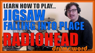 """Jigsaw Falling Into Place"" - (Radiohead) Full-Song Video Drum Lesson Notation Chart Transcription Sheet Music Drum Lesson"