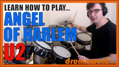 """Angel Of Harlem"" - (U2) Full-Song Video Drum Lesson Notation Chart Transcription Sheet Music Drum Lesson"