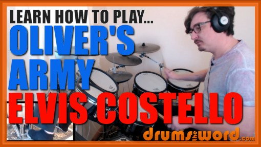 """Oliver's Army"" - (Elvis Costello) Full-Song Video Drum Lesson Notation Chart Transcription Sheet Music Drum Lesson"