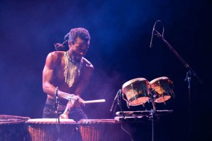 Michael Dodoo Playing Duns Drum Struck