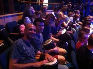 Scotish Audience Members Drum Struck