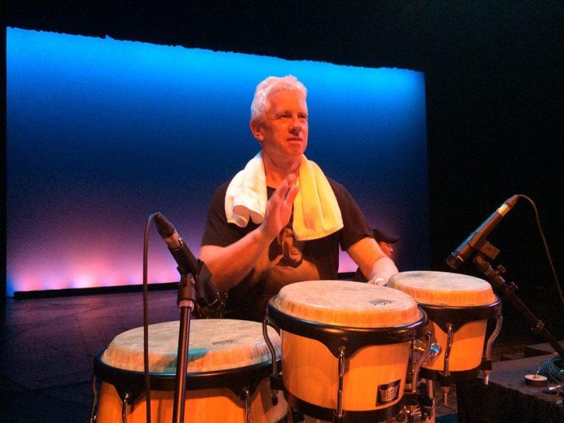 Richard behind bongos