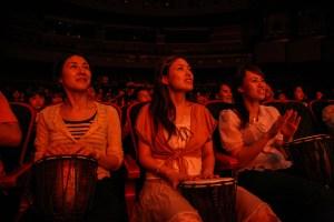 Audience Members Japan Drum Struck