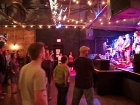 Inside Brighton Music Hall during the ATC set, Loved the lighting!