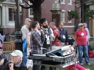Patrick Coman and John Colvert handling the sound
