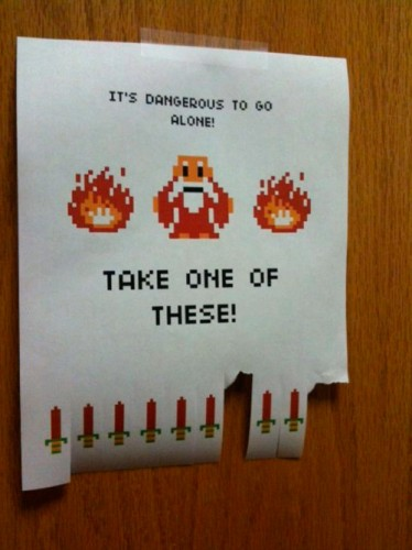 its dangerous to go alone take one of these 374x500 its dangerous to go alone   take one of these