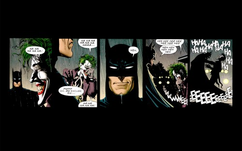 batman and joker share a laugh 500x312 batman and joker share a laugh