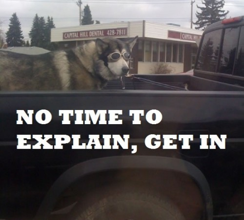 no time to explain get in 500x452 no time to explain   get in