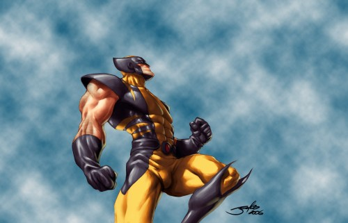 wolverine gets ready to punch the sky