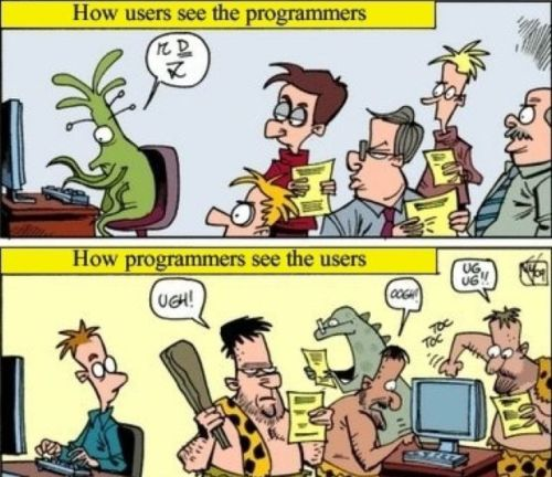 how users see the programers