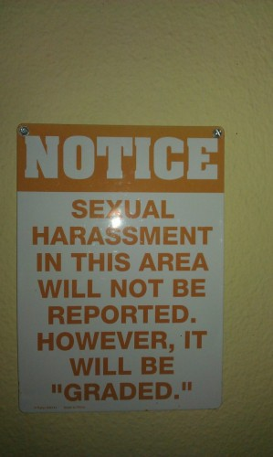 sexual harassment in this area will not be reported 299x500 sexual harassment in this area will not be reported