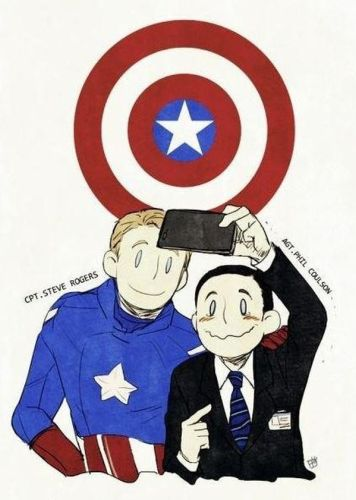 cpt steve rogers and agt phil colson