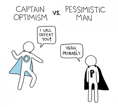 captain optimism vs pessimistic man 500x453 captain optimism vs pessimistic man