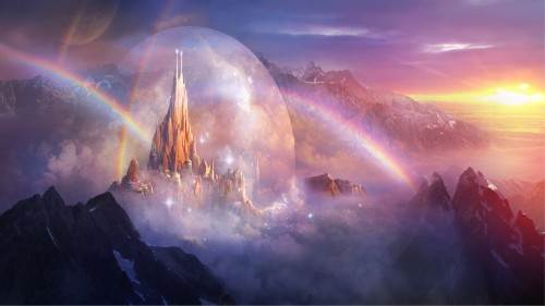 fantasy city of rainbows 500x281 fantasy city of rainbows