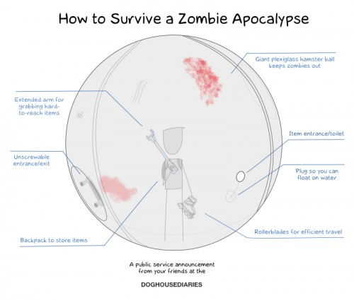 how to survive a zombie apocalypse 500x425 how to survive a zombie apocalypse