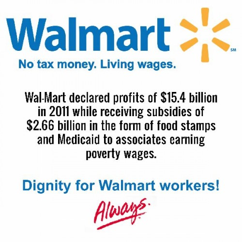 walmart dignity for walmart workers 500x500 walmart   dignity for walmart workers
