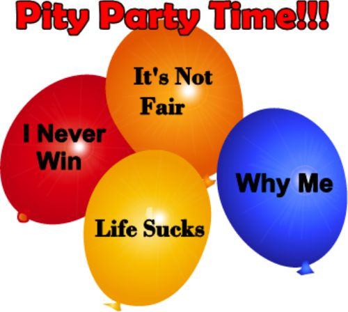 pity party time pity party time