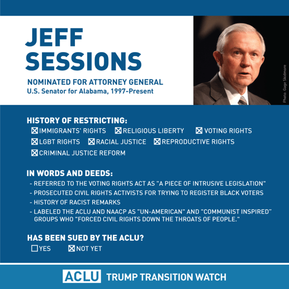 Jeff Sessions is a failure of a person Jeff Sessions is a failure of a person