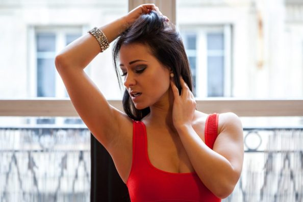 Kristina Uhrinova checking her armpit for imperfections which she does not have because she has perfect arm pits 1024x683 Kristina Uhrinova checking her armpit for imperfections, which she does not have because she has perfect arm pits