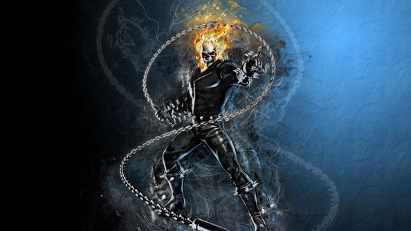Ghost Rider with a chain 1024x576 Ghost Rider with a chain