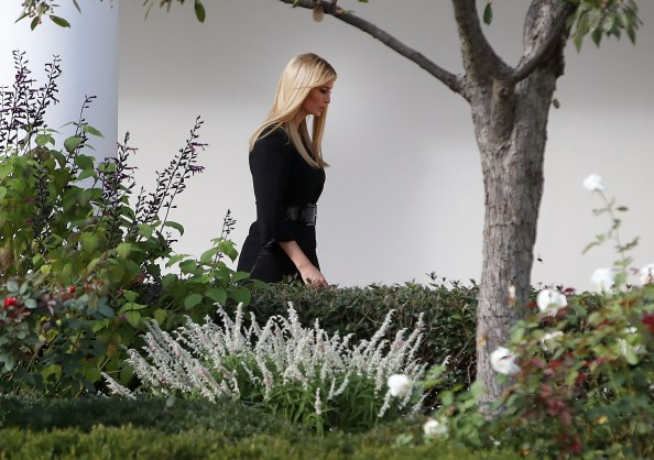 Ivanka walking in a political forest
