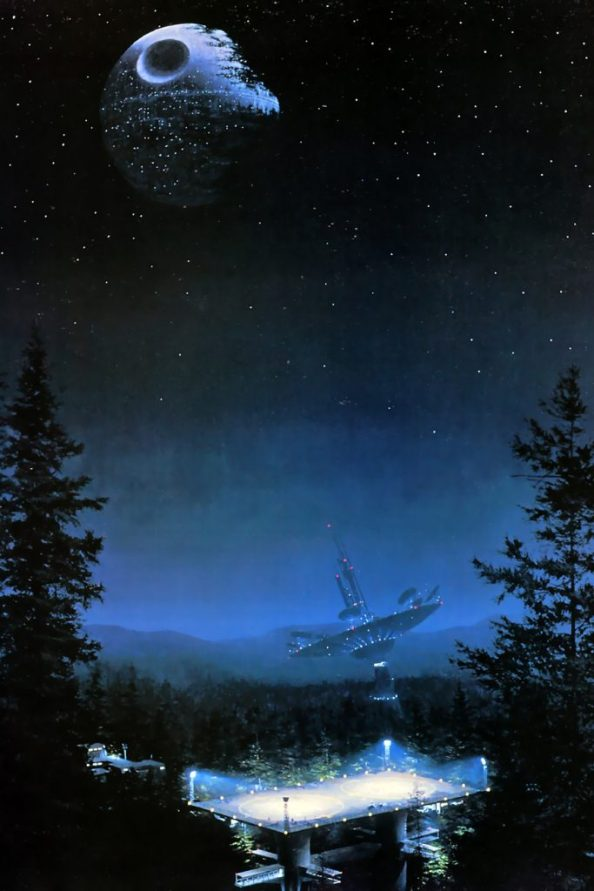 Return of the Jedi on the planet moon of Endor 683x1024 Return of the Jedi on the planet moon of Endor